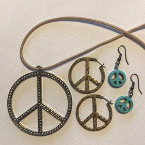 PEACE Sign Jewelry Lot